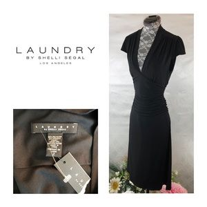 NWT Laundry by Shelli Segal Black Stretch Dress